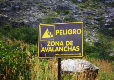Danger: Avalanche zone