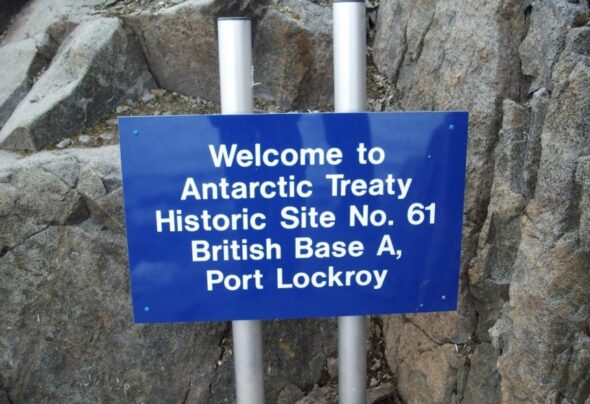 Asking God to save the Queen of Port Lockroy