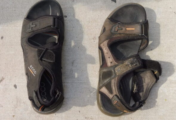 When you buy a new pair of sandals, throw out the old pair…