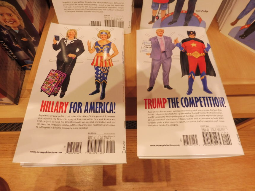 USA DC National Portrait Gallery gift shop - H Clinton and D Trump books 2