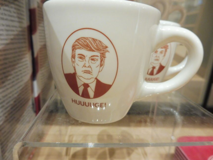 USA DC National Portrait Gallery gift shop - D Trump cup
