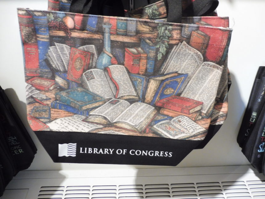USA DC Library of Congress gift shop - bags