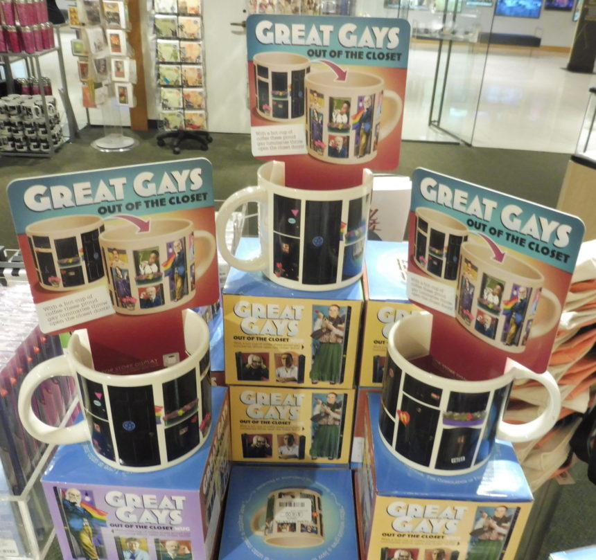 USA DC Kennedy Center gift shops - Great Gays out of the closet mugs 2