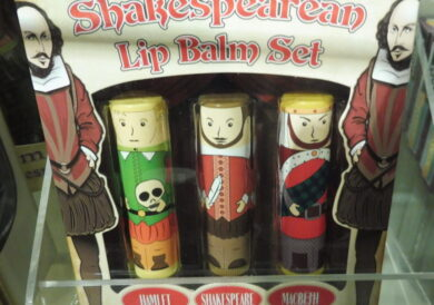 A Shakespearean lip balm set and more…