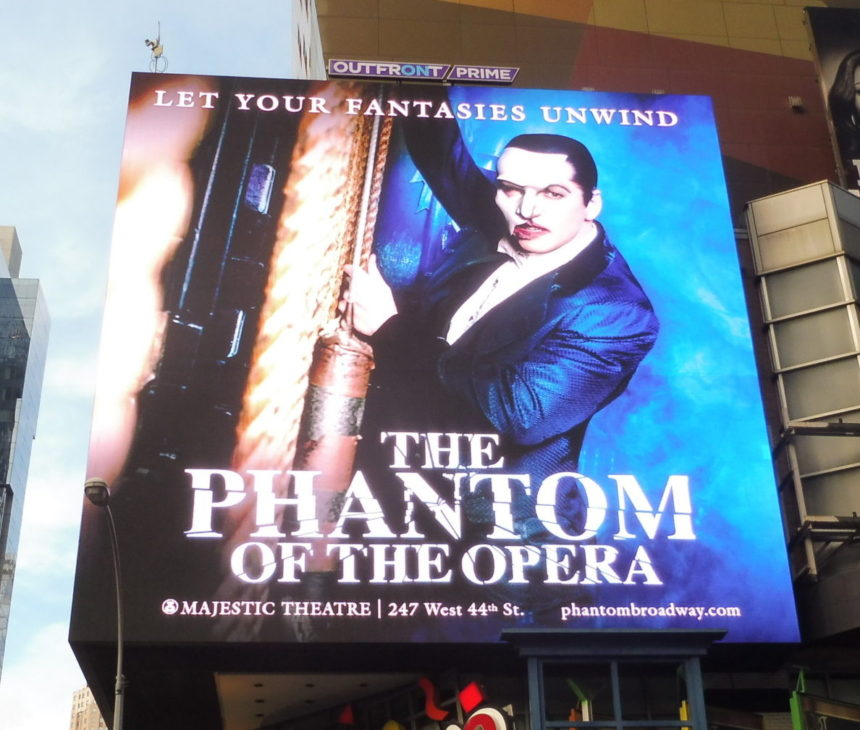 USA New York The Phantom of the Opera ad