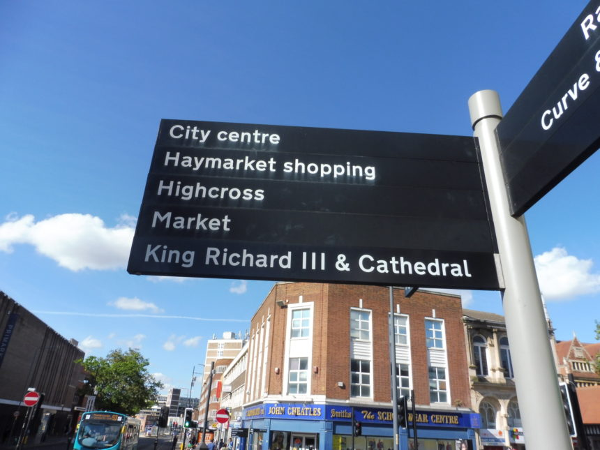 England Richard III Leicester sign