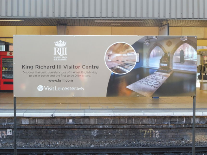 England Richard III Leicester train station