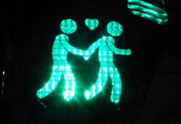 Lesbian and gay Munich traffic lights