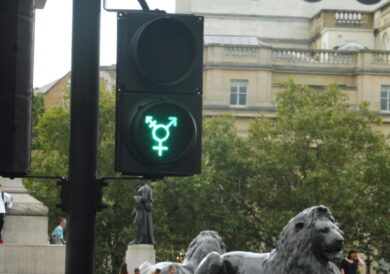 Lesbian, gay and transgender London traffic lights