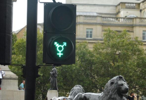 Lesbian, gay and transgender London traffic lights