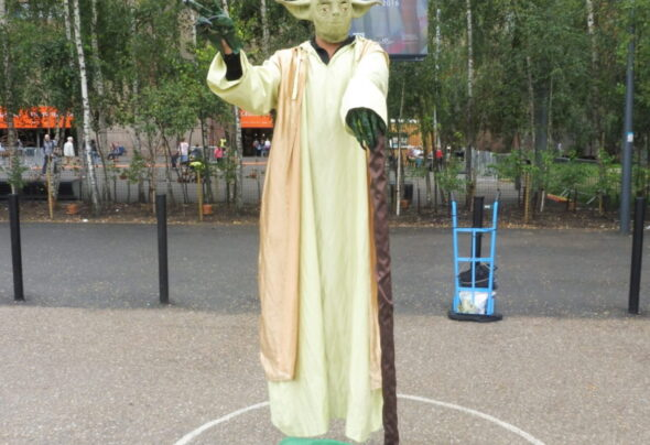 Yoda's surprise appearance in London
