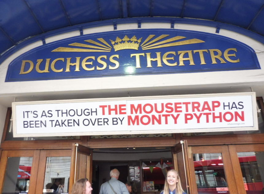 England London The Play That Goes Wrong outside Duchess Theatre