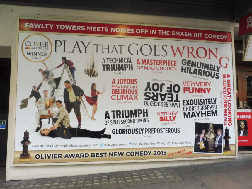 England London The Play That Goes Wrong billboard