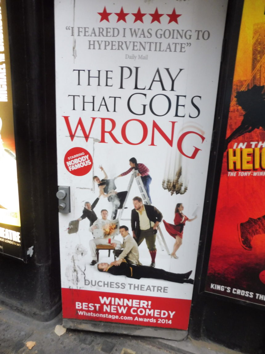 England London The Play That Goes Wrong board