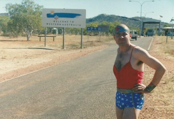 Wonder Woman's surprise appearance in the Northern Territory