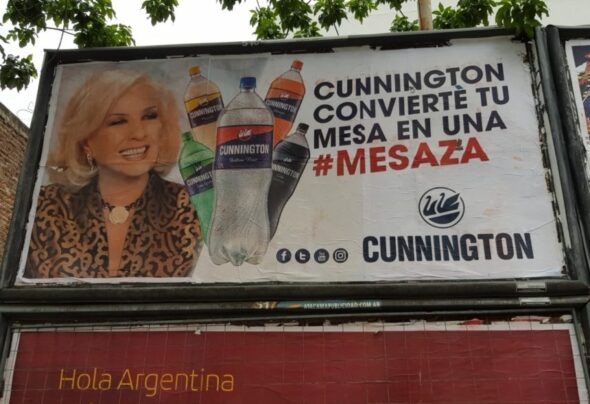 How old is the woman on this Buenos Aires billboard?