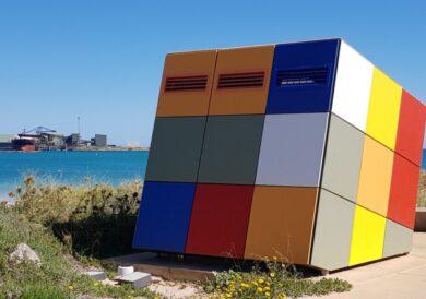 Rubik's cube toilets in Geraldton