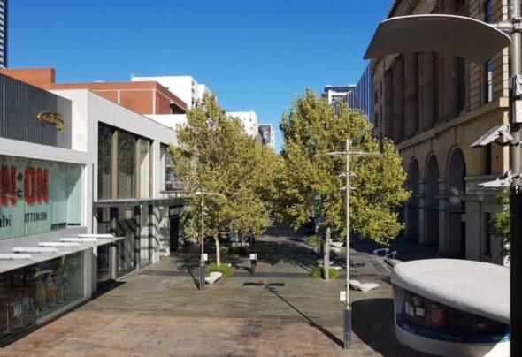 Perth during last week's lockdown