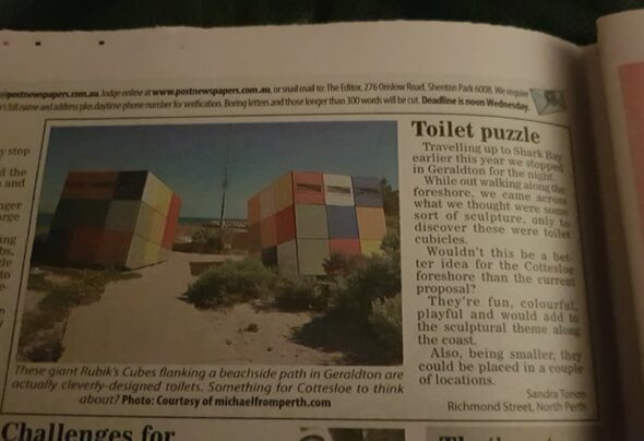 Toilets got me into the newspaper